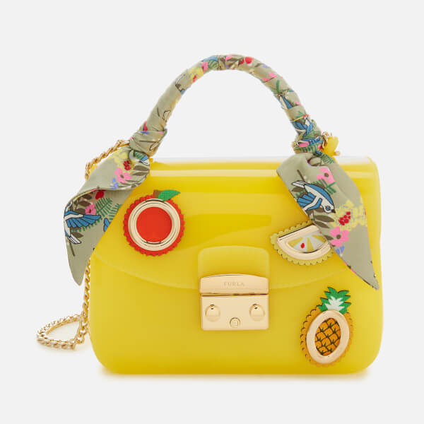 Furla Women's Candy Mini Cross Body Bag - Yellow: Image 1