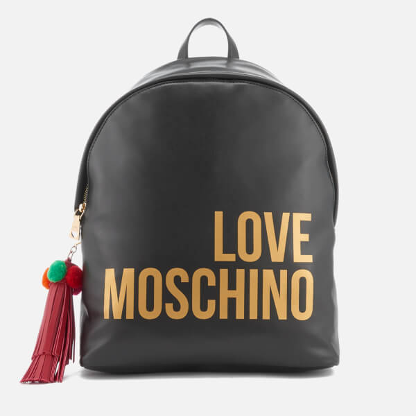 Love Moschino Women's Logo Backpack - Black