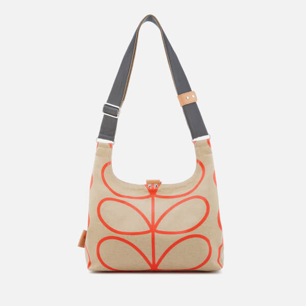 Orla Kiely Women s Matt Laminated Giant Linear Stem Mini Sling Bag - Stone   Image 1 89669936e2