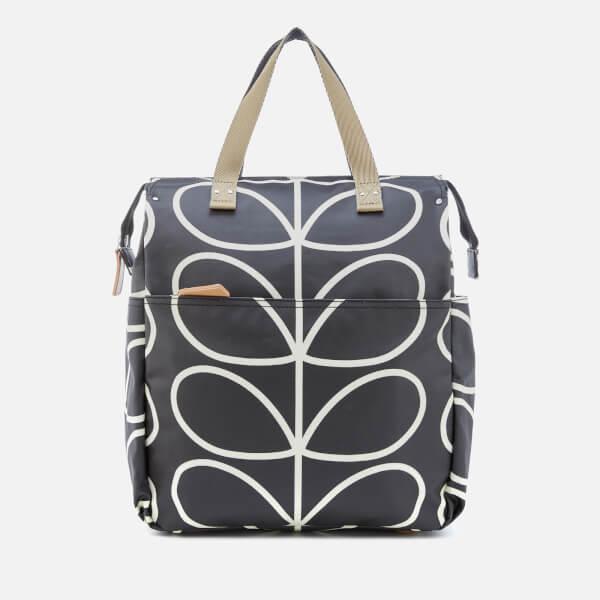 Orla Kiely Women s Giant Linear Stem Baby Bag - Liquorice  Image 1 72f8d4158e