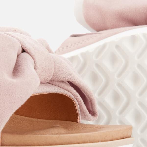 b04e41c7357 UGG Women s Joan Suede Bow Flatform Slide Sandals - Seashell Pink  Image 4