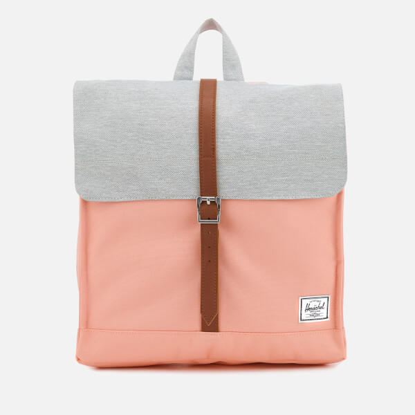 Herschel Supply Co. Women s City Mid-Volume Backpack - Peach Light Grey  Crosshatch 85aa7aa02053f