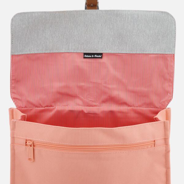 Herschel Supply Co. Women s City Mid-Volume Backpack - Peach Light Grey  Crosshatch d6a936db219d9