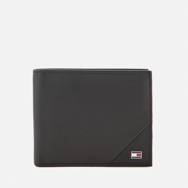 Tommy Hilfiger Men's TH Diagonal Mini Credit Card Wallet - Black