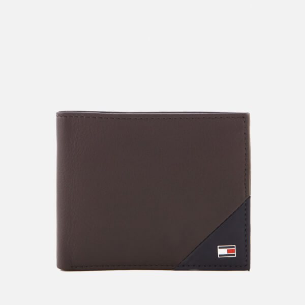Tommy Hilfiger Men's TH Diagonal Mini Credit Card Wallet - Coffee Bean