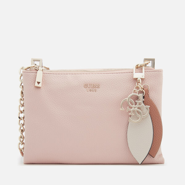 Guess Women's Lou Lou Mini Cross Body Top Zip Bag - Rose Multi