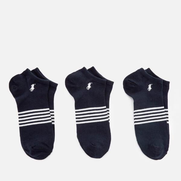 Polo Ralph Lauren Men's Stripe 3 Pack Socks - Navy
