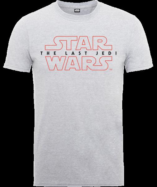 Star Wars The Last Jedi Men's Grey T-Shirt