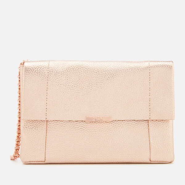 e23721a6445b6 Ted Baker Women s Parson Unlined Soft Leather Cross Body Bag - Rose Gold   Image 1