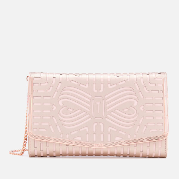 e787a2b6053d Ted Baker Women s Bree Cut Out Bow Clutch Bag - Rose Gold  Image 1