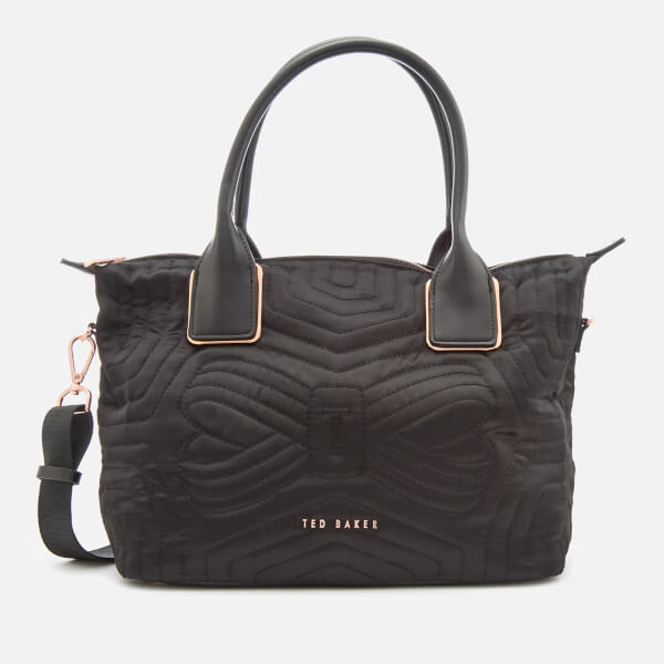 Ted Baker Women's Akebia Quilted Bow Small Nylon Tote Bag - Black