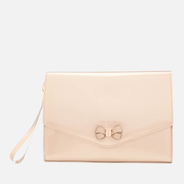 Ted Baker Women's Luanne Bow Envelope Pouch - Rose Gold