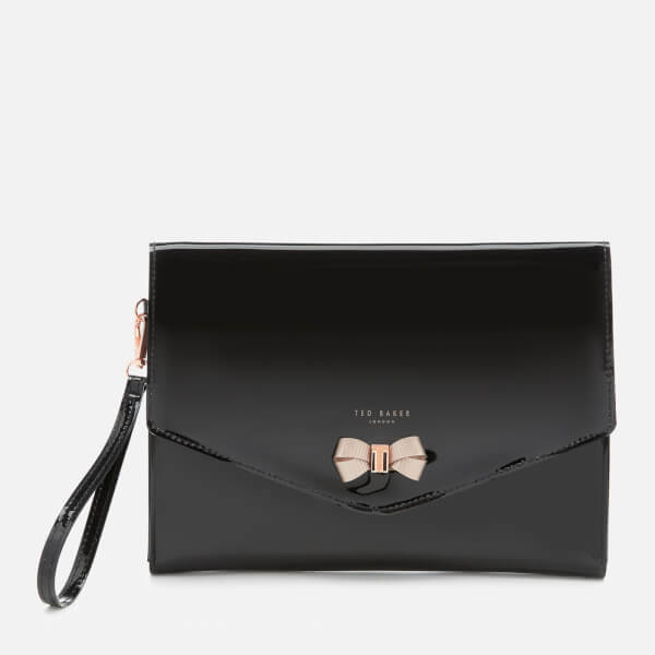 a1e143c13 Ted Baker Women s Luanne Bow Envelope Pouch - Black  Image 1