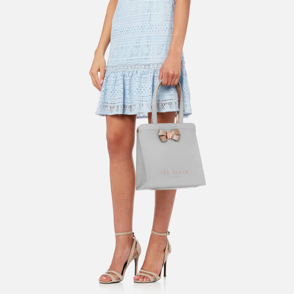 911013b26536 Ted Baker Women s Kriscon Bow Detail Small Icon Bag - Mid Grey  Image 3