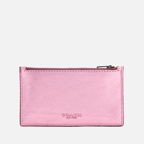 Coach Women's Zip Card Case - Blush/Primrose