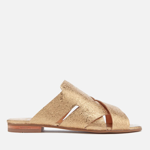 Hudson London Women's Lonatu Leather Slide Sandals - Gold