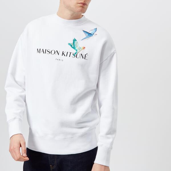 Maison Kitsuné Men's Lovebirds Sweatshirt - White: Image 1