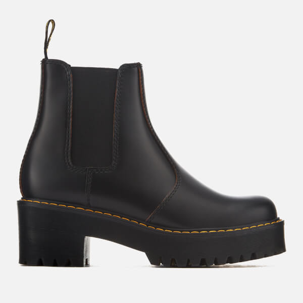 Dr. Martens Women's Rometty Vintage Smooth Leather Heeled Chelsea Boots - - UK 3