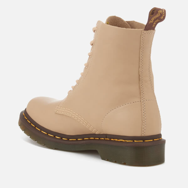 Dr. Martens Women's Pascal 8-Eye Virginia Leather Boots - Nude - UK 3
