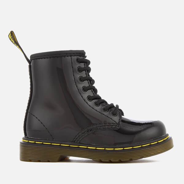 Dr. Martens Kids' 1460 T Patent Lamper Lace Up Boots - Black