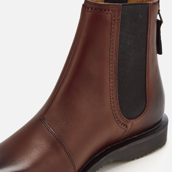 cf2ac5178ba Dr. Martens Women s Zillow Antique Temperley Leather Chelsea Boots - Cherry  Red  Image 5