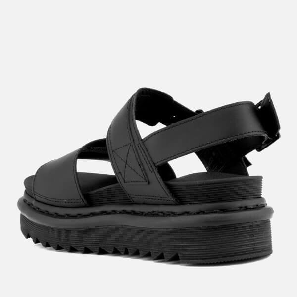 5c31d1dfab5b Dr. Martens Women s Voss Leather Double Strap Sandals - Black  Image 2