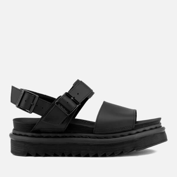 Dr. Martens Women's Voss Double Strap Leather Sandals - Black