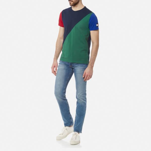281095328de00 Tommy Hilfiger Men s Maddock Colour Block T-Shirt - Navy Blazer  Image 3