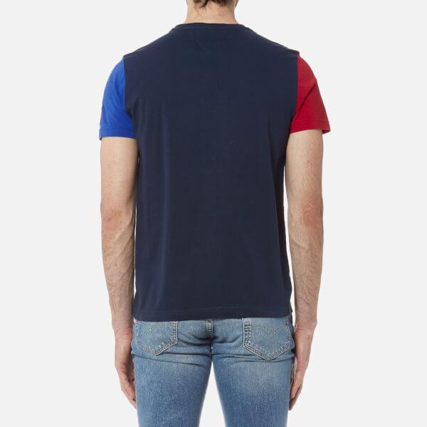 fe7b50e5569eb Tommy Hilfiger Men s Maddock Colour Block T-Shirt - Navy Blazer  Image 2