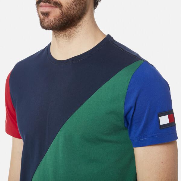 9b9882d730392 Tommy Hilfiger Men s Maddock Colour Block T-Shirt - Navy Blazer  Image 4