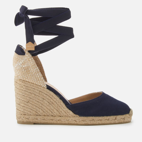 Castañer Women's Carina Wedged Sandals - Azul Marino