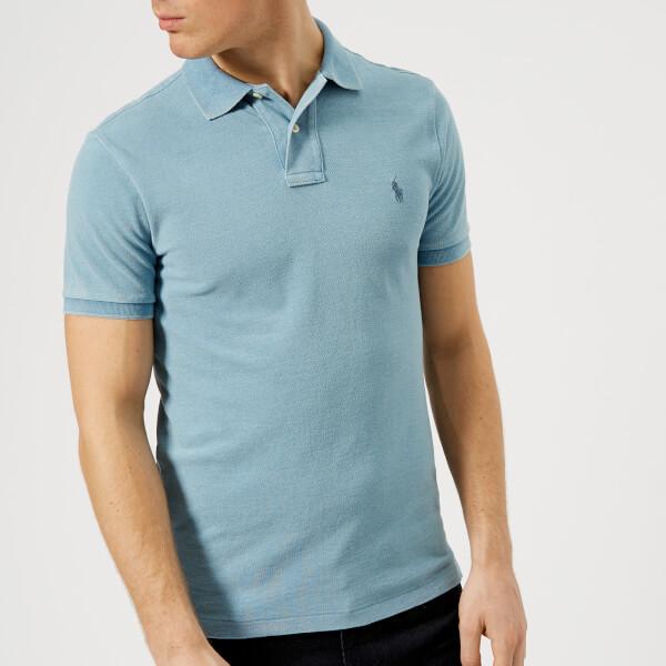 Polo Ralph Lauren Men s Short Sleeve Knitted Polo Shirt - Light Indigo   Image 1 e09a11bee573