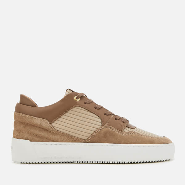 Android Homme Men's Omega Low Lines Emboss Trainers - Beige Mix Up