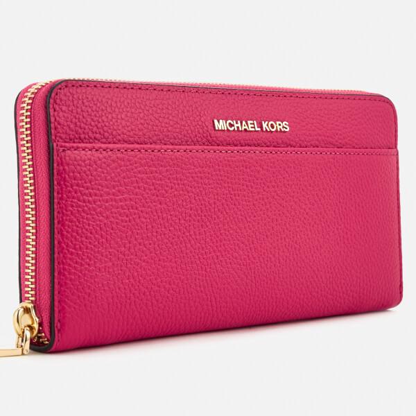 3a9d8038c19953 MICHAEL MICHAEL KORS Women's Pocket Zip Around Continental Wallet - Ultra  Pink: Image 3
