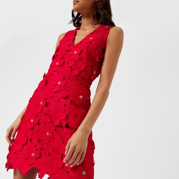 MICHAEL MICHAEL KORS Women s Floral Lace Dress - True Red Womens ... cc57f25830