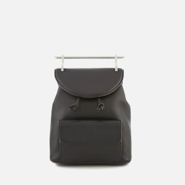 M2Malletier Women's Mini Double Hardware Backpack - Black/Double Silver