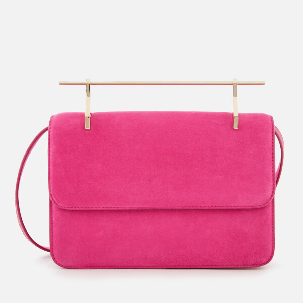 M2Malletier Women's La Fleur Du Mal Double Hardware Bag - Hot Pink Suede/Double Gold