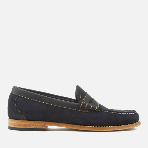 Bass Weejuns Men's Larson Reverso Suede Loafers - Navy