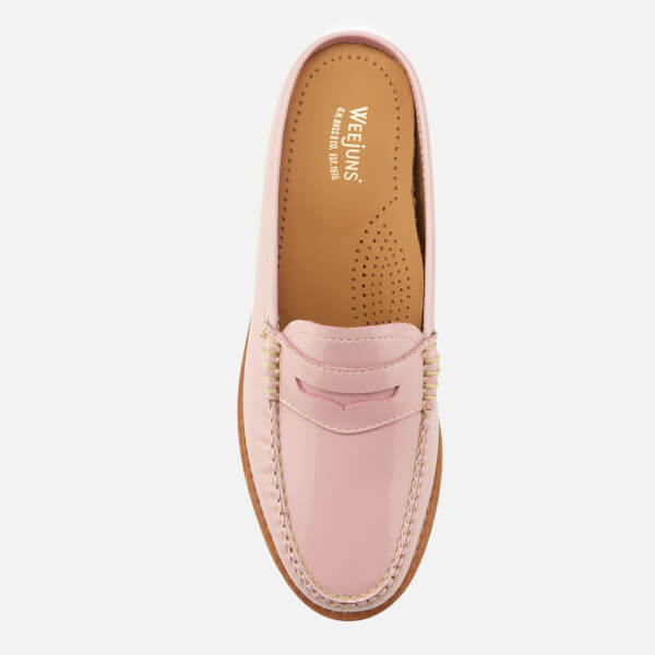 441fc4e2bb2 Bass Weejuns Women s Penny Slide Wheel Patent Leather Loafers - Bridal Rose   Image 3