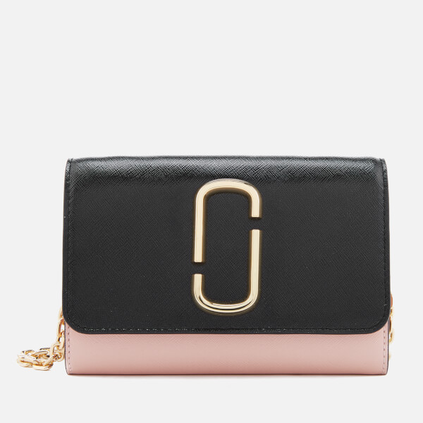 Marc Jacobs Women's Snapshot Wallet on Chain - Black/Rose