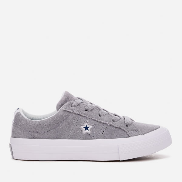 8d3d25fe79c4 Converse Kids  One Star Ox Trainers - Wolf Grey White Navy  Image