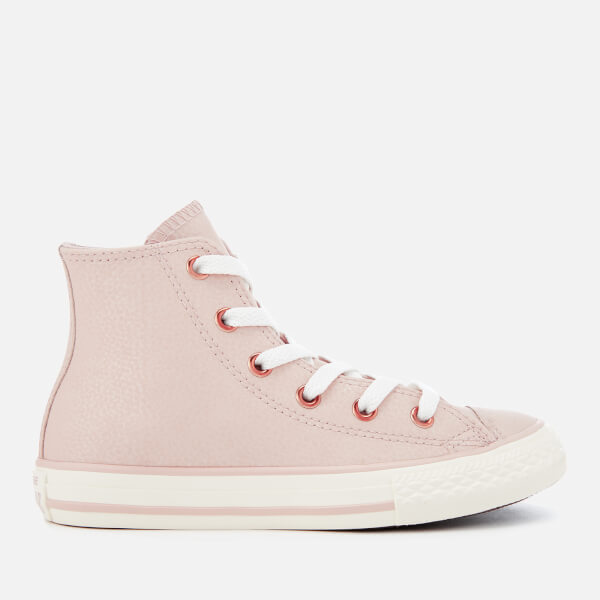 Converse Kids' Chuck Taylor All Star Hi-Top Trainers - Particle Beige/Egret/Rose Gold