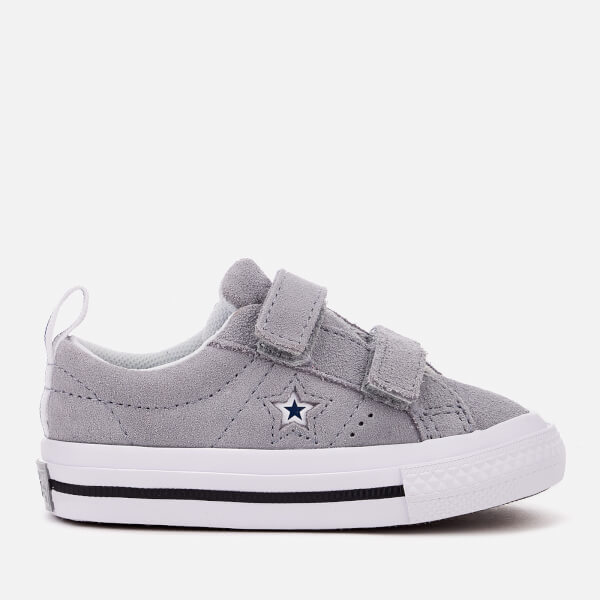 Converse Kids' One Star 2V Trainers - Wolf Grey/White/Navy