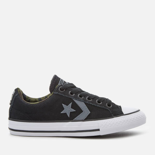 Converse Kids' Star Player Ox Trainers - Black/White/Black