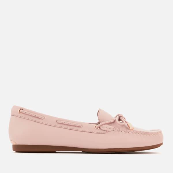 MICHAEL MICHAEL KORS Women's Sutton Tumbled Leather Moc Driver Shoes - Soft Pink
