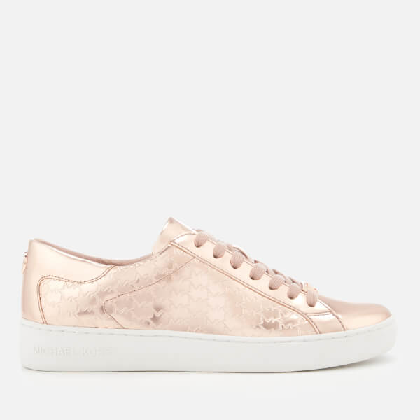 MICHAEL MICHAEL KORS Women's Colby Embossed Mirror Metallic Low Top Trainers - Rose Gold