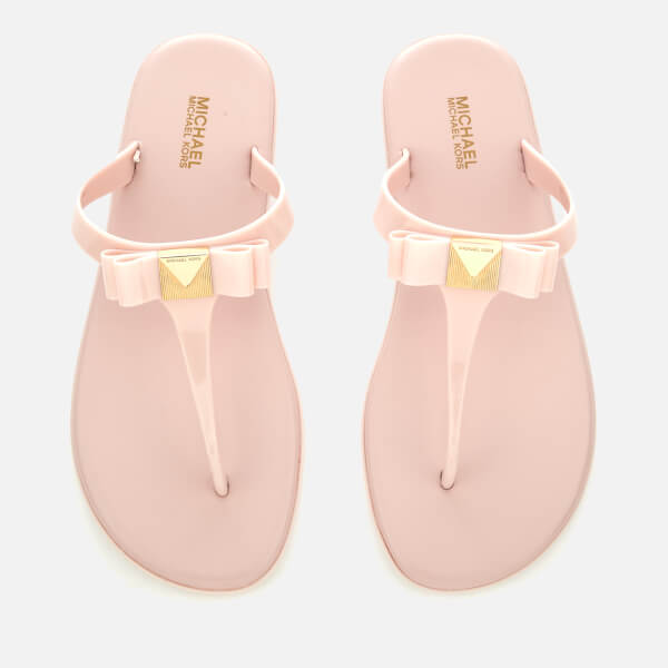 1f0d97117bf6 MICHAEL MICHAEL KORS Women s Caroline Jelly Toe Post Sandals - Soft Pink   Image 1