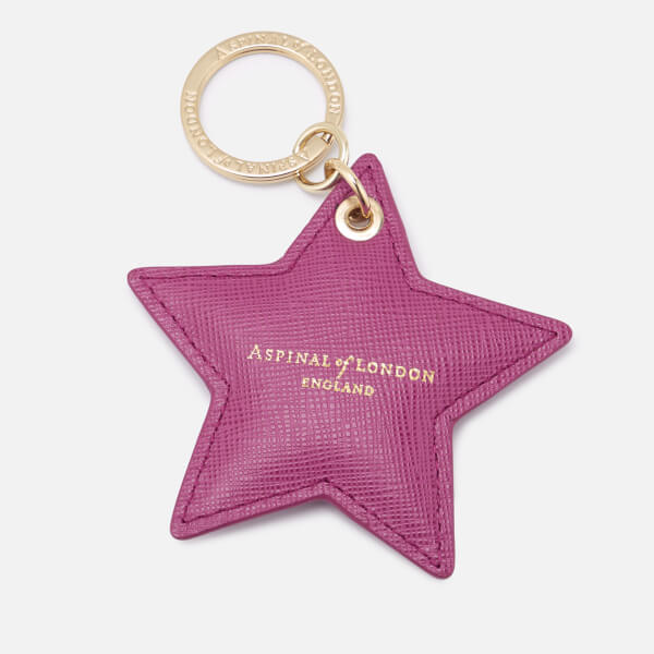 Aspinal of London Women's Star Keyring - Orchid