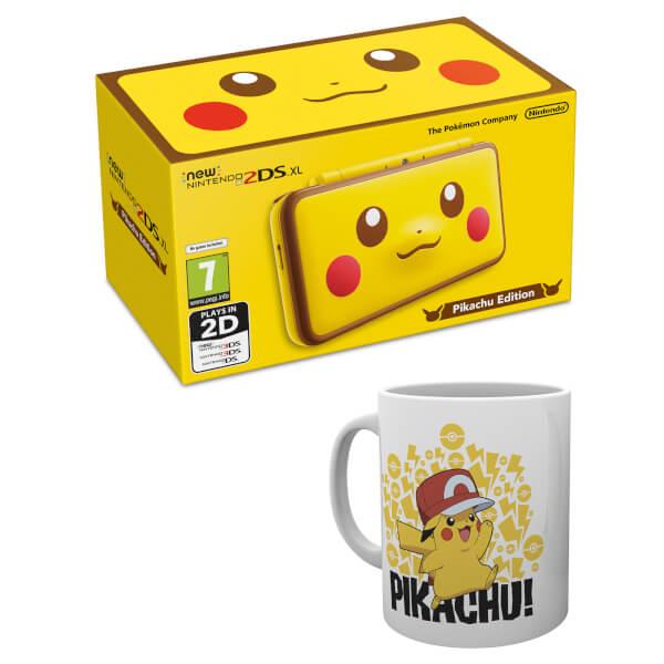 New Nintendo 2DS XL Pikachu Edition + Pikachu Mug