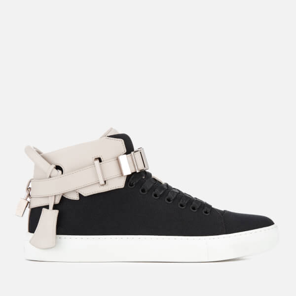 BUSCEMI Men's 100MM Canvas Trainers - /Off White - UK 7